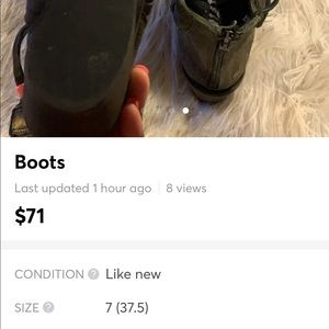 Free people booties never worn only on my home